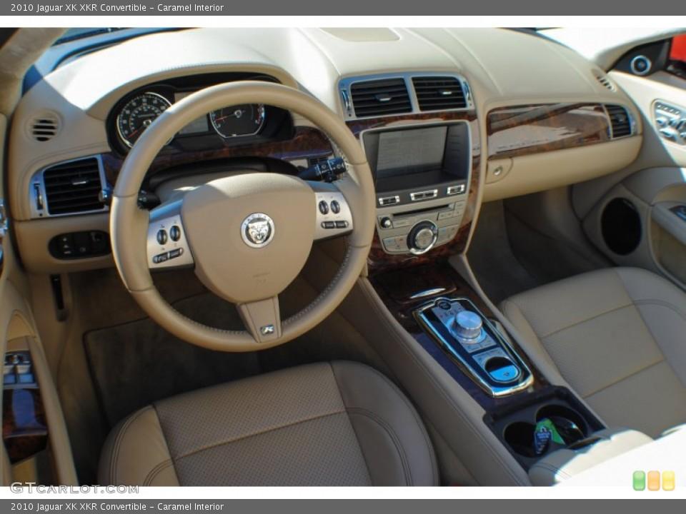 Caramel Interior Prime Interior for the 2010 Jaguar XK XKR Convertible #75648180