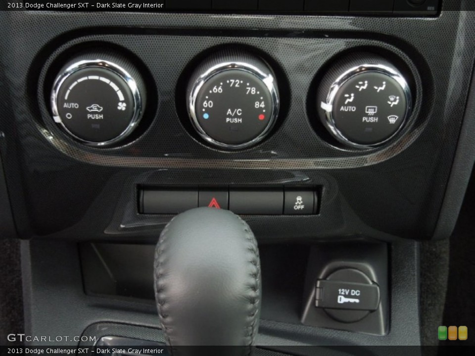 Dark Slate Gray Interior Controls for the 2013 Dodge Challenger SXT #75762561