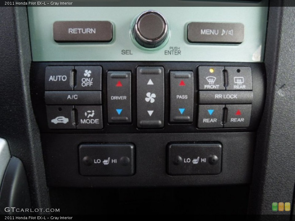 Gray Interior Controls for the 2011 Honda Pilot EX-L #75774836