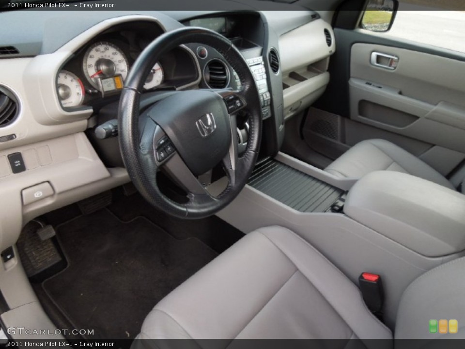 Gray Interior Prime Interior for the 2011 Honda Pilot EX-L #75774968