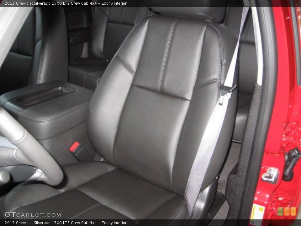 Ebony Interior Front Seat for the 2013 Chevrolet Silverado 1500 LTZ Crew Cab 4x4 #75791200