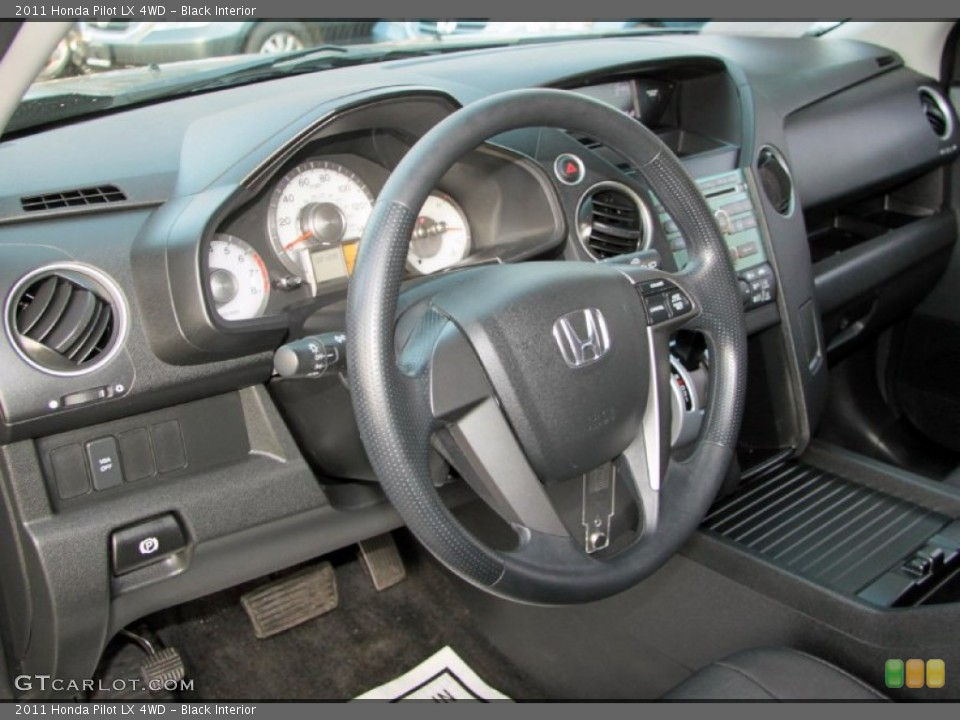 Black Interior Steering Wheel for the 2011 Honda Pilot LX 4WD #75821657