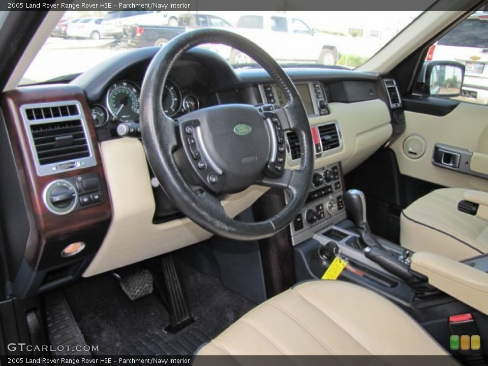 Parchment/Navy 2005 Land Rover Range Rover Interiors