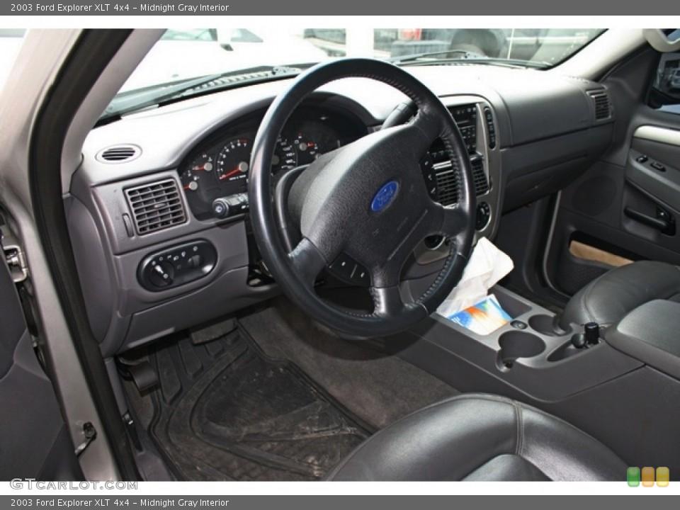 Midnight Gray 2003 Ford Explorer Interiors