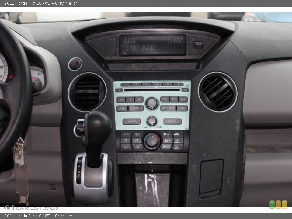 Gray Interior Controls for the 2011 Honda Pilot LX 4WD #75868469