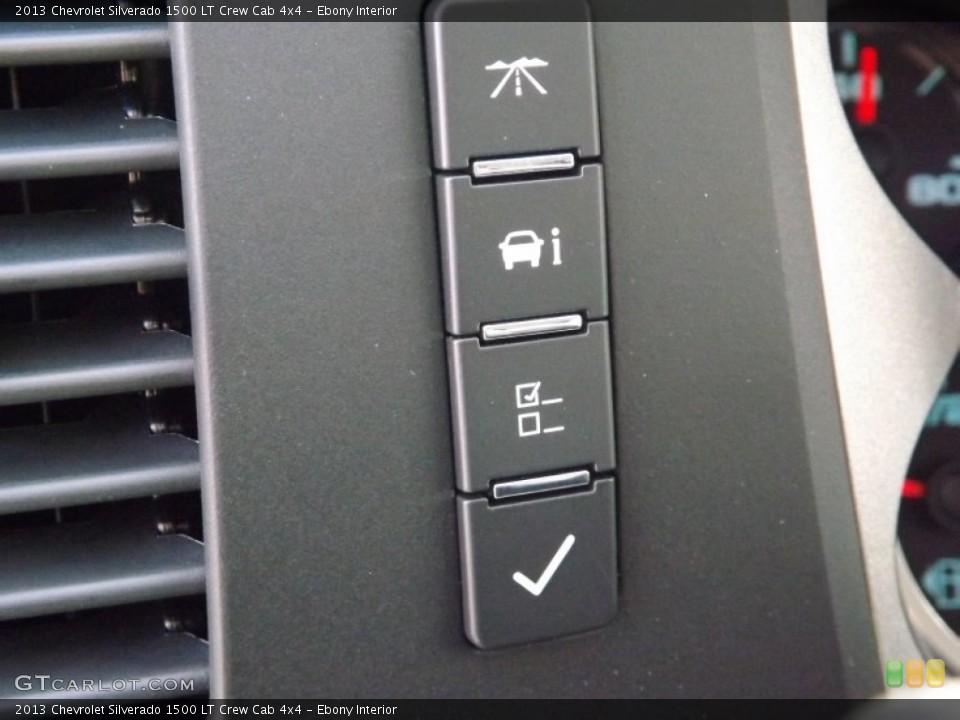 Ebony Interior Controls for the 2013 Chevrolet Silverado 1500 LT Crew Cab 4x4 #75896579