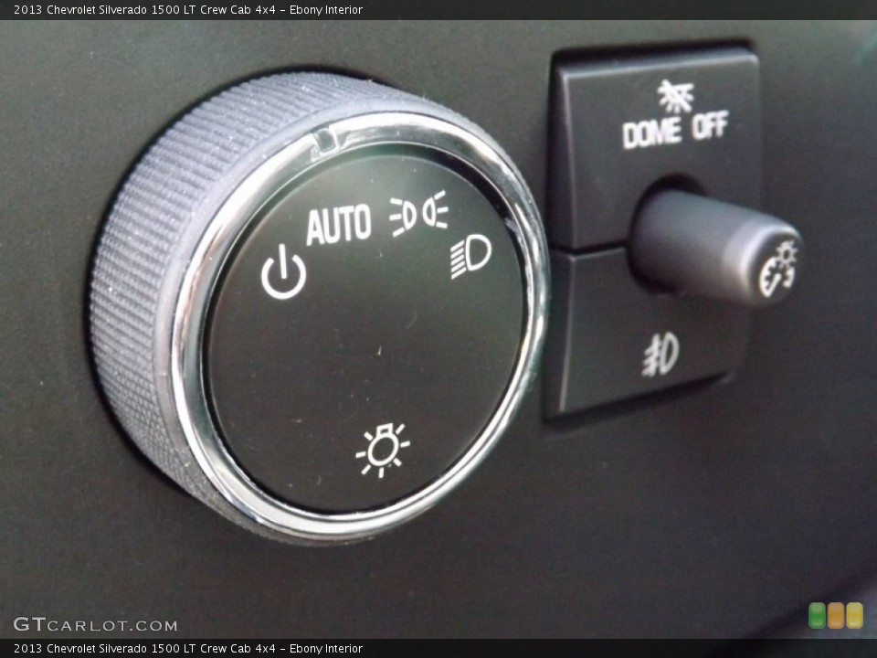 Ebony Interior Controls for the 2013 Chevrolet Silverado 1500 LT Crew Cab 4x4 #75896607