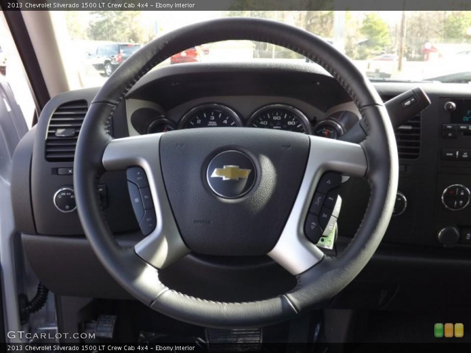 Ebony Interior Steering Wheel for the 2013 Chevrolet Silverado 1500 LT Crew Cab 4x4 #75898808