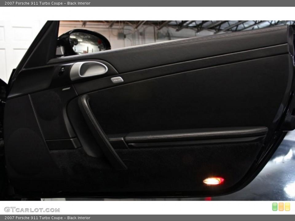 Black Interior Door Panel for the 2007 Porsche 911 Turbo Coupe #75936990
