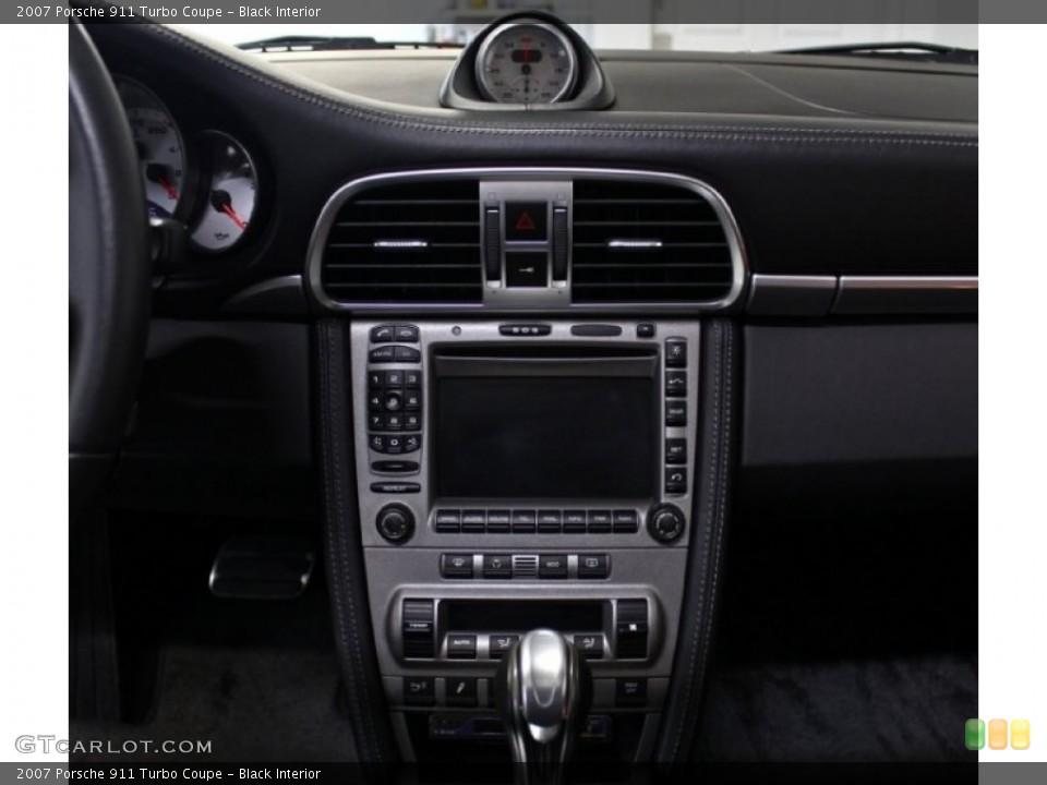 Black Interior Controls for the 2007 Porsche 911 Turbo Coupe #75937298