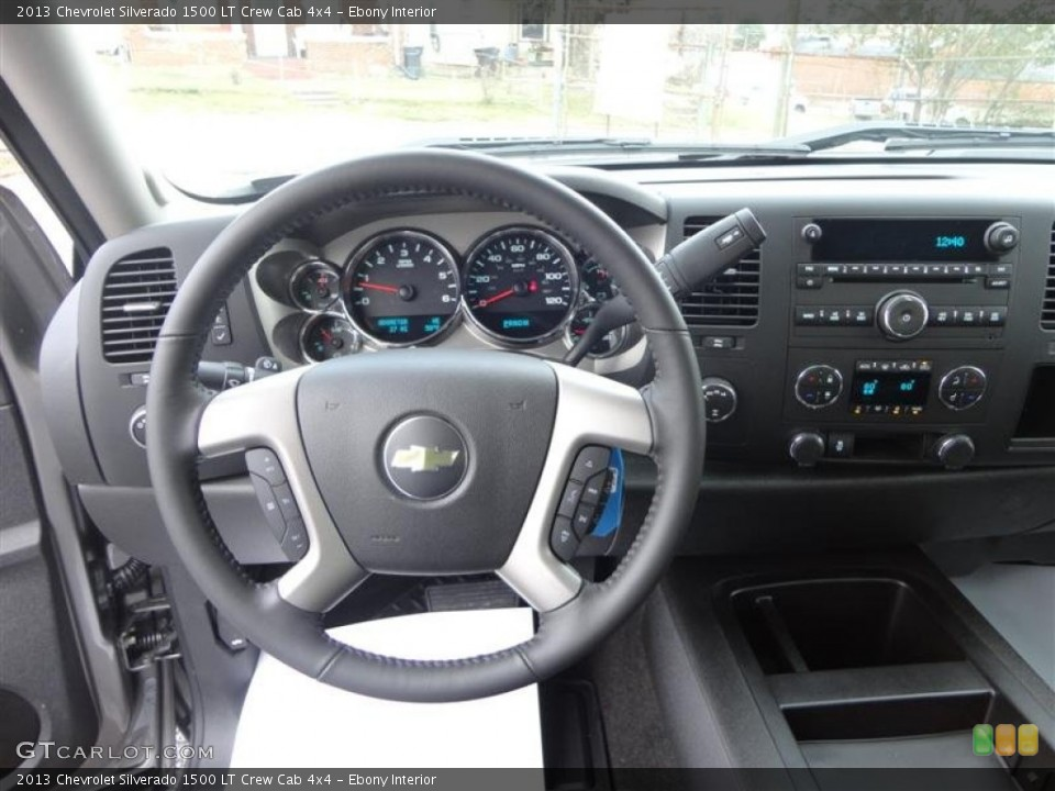 Ebony Interior Dashboard for the 2013 Chevrolet Silverado 1500 LT Crew Cab 4x4 #75997898