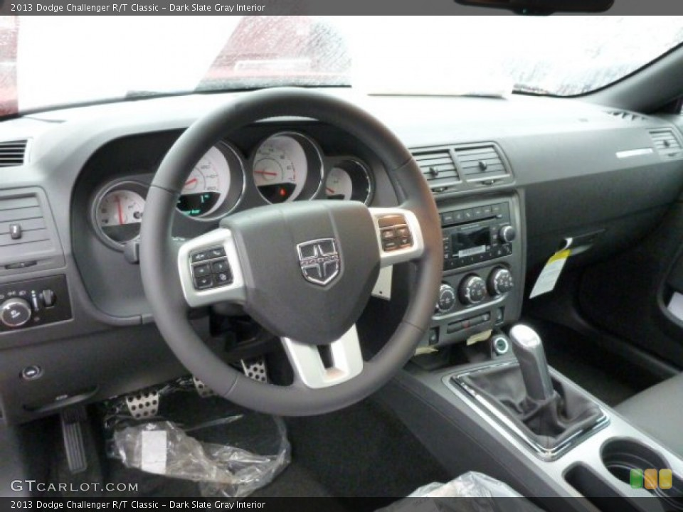 Dark Slate Gray Interior Dashboard for the 2013 Dodge Challenger R/T Classic #76001074