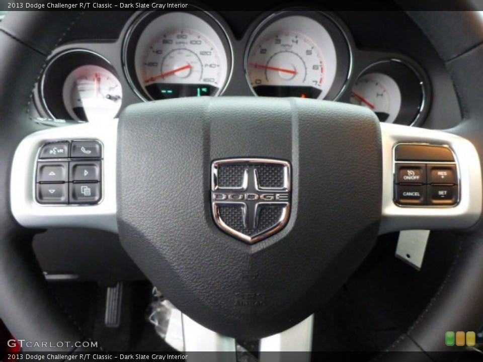 Dark Slate Gray Interior Controls for the 2013 Dodge Challenger R/T Classic #76001189