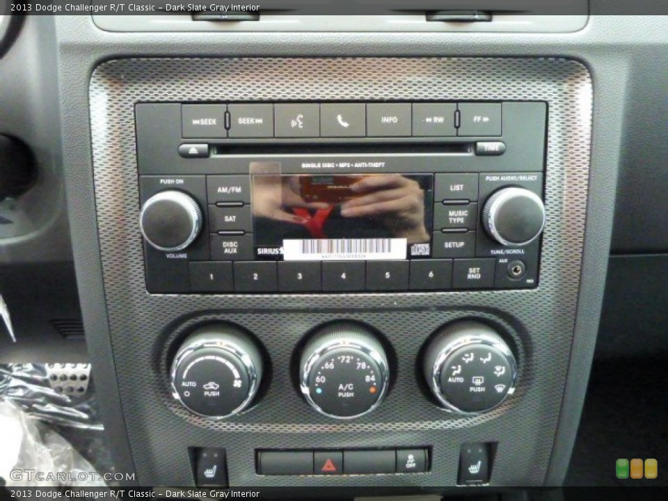 Dark Slate Gray Interior Controls for the 2013 Dodge Challenger R/T Classic #76001224