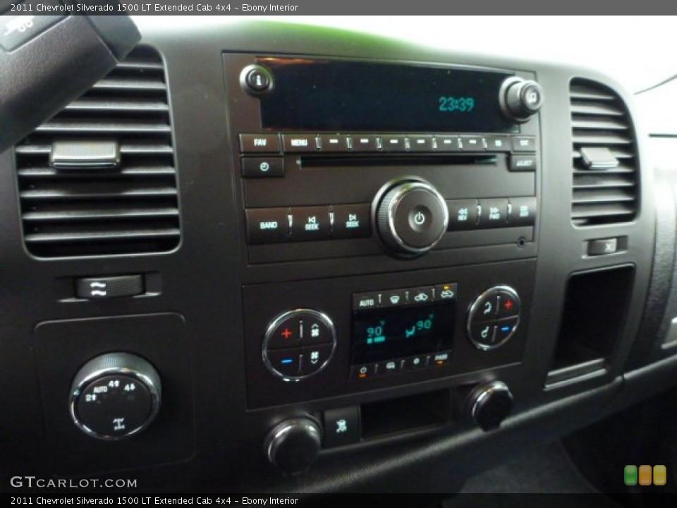 Ebony Interior Controls for the 2011 Chevrolet Silverado 1500 LT Extended Cab 4x4 #76057233
