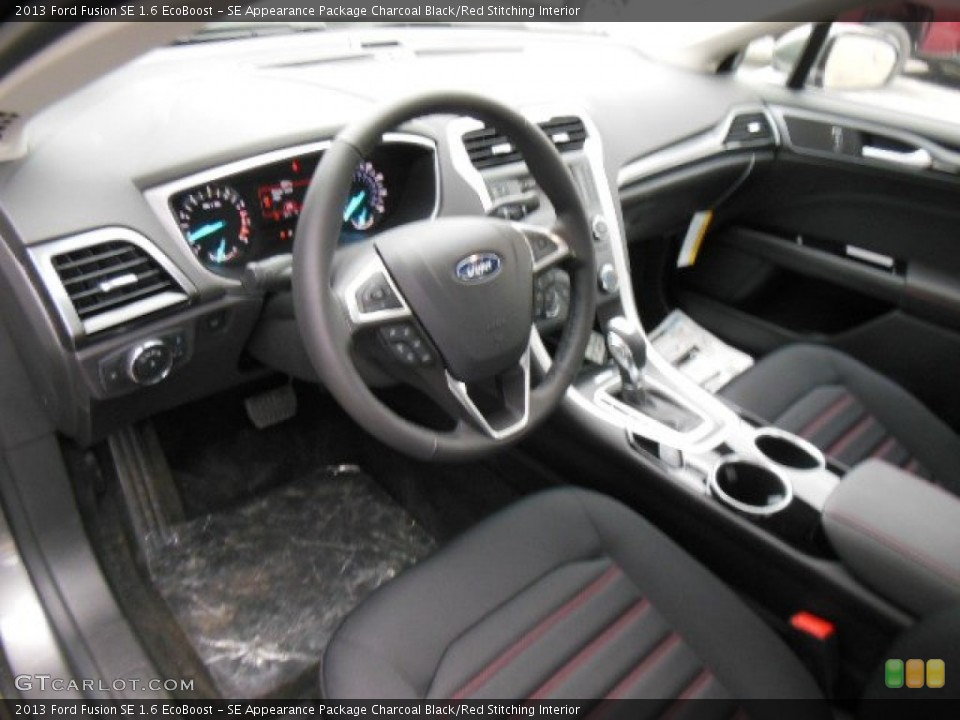SE Appearance Package Charcoal Black/Red Stitching 2013 Ford Fusion Interiors