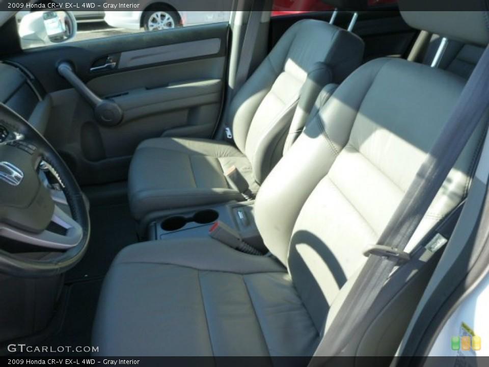 Gray Interior Photo for the 2009 Honda CR-V EX-L 4WD #76081799