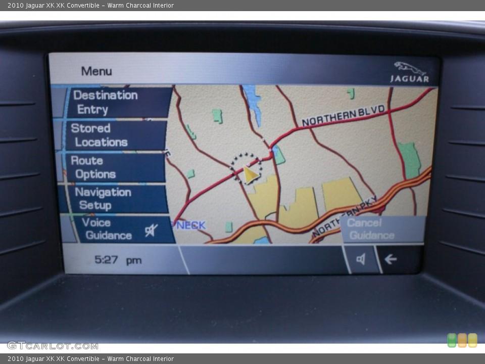 Warm Charcoal Interior Navigation for the 2010 Jaguar XK XK Convertible #76083526
