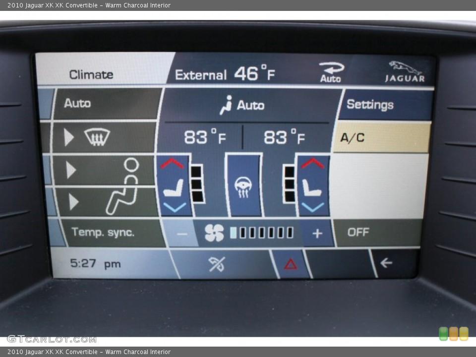 Warm Charcoal Interior Controls for the 2010 Jaguar XK XK Convertible #76083542