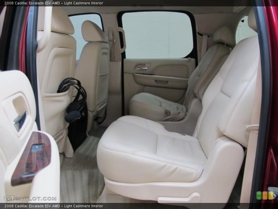 Light Cashmere Interior Rear Seat for the 2008 Cadillac Escalade ESV AWD #76146102
