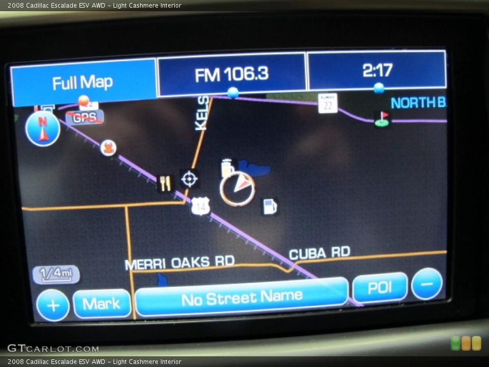 Light Cashmere Interior Navigation for the 2008 Cadillac Escalade ESV AWD #76146378