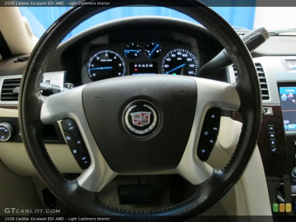 Light Cashmere Interior Steering Wheel for the 2008 Cadillac Escalade ESV AWD #76146454