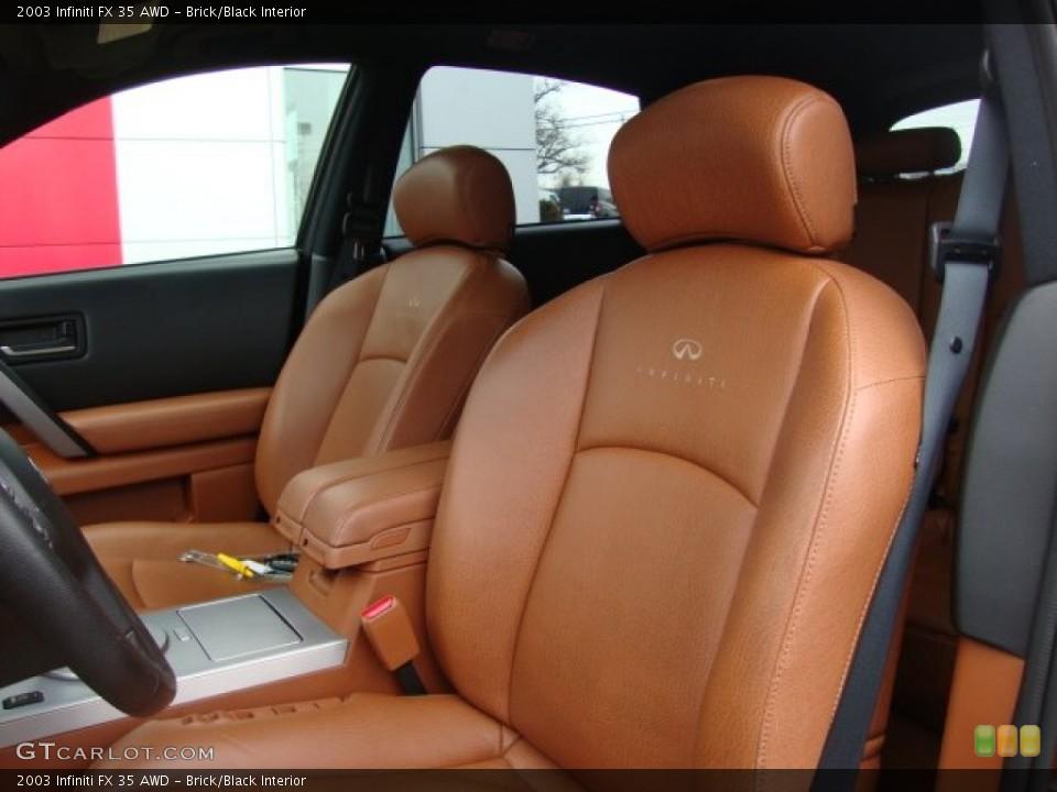 Brick/Black Interior Photo for the 2003 Infiniti FX 35 AWD #76219778