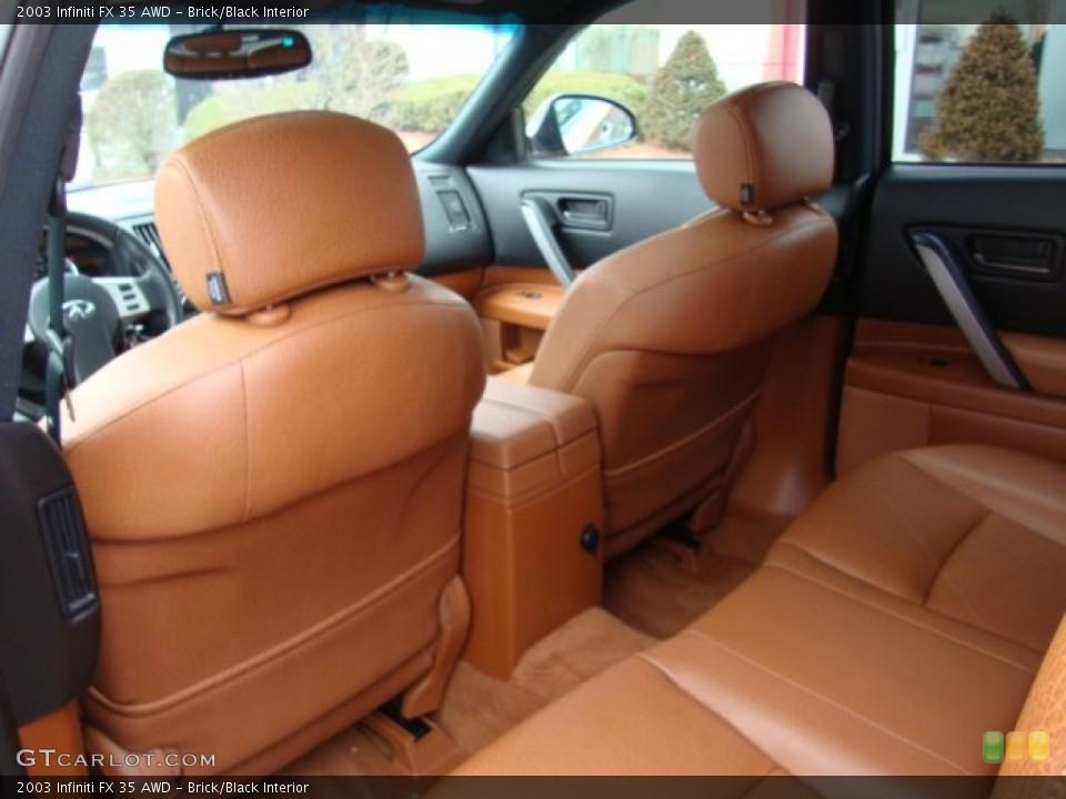 Brick/Black Interior Rear Seat for the 2003 Infiniti FX 35 AWD #76219790