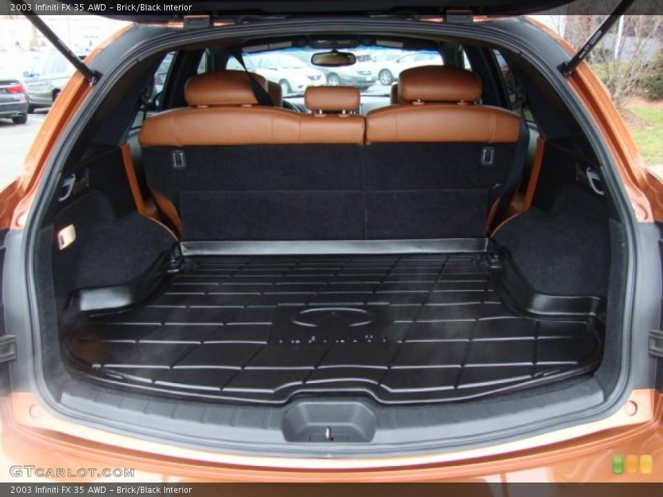 Brick/Black Interior Trunk for the 2003 Infiniti FX 35 AWD #76219801