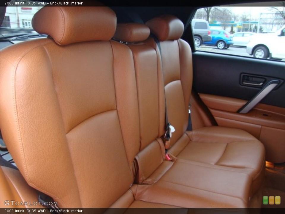 Brick/Black Interior Rear Seat for the 2003 Infiniti FX 35 AWD #76219808