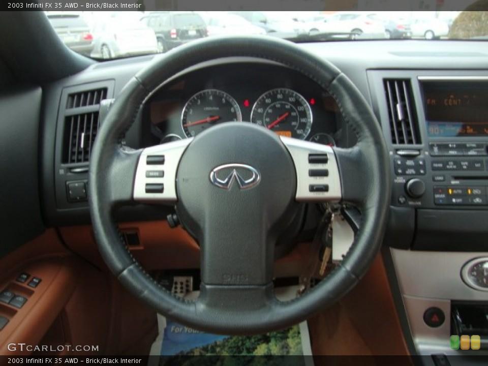 Brick/Black Interior Steering Wheel for the 2003 Infiniti FX 35 AWD #76219841