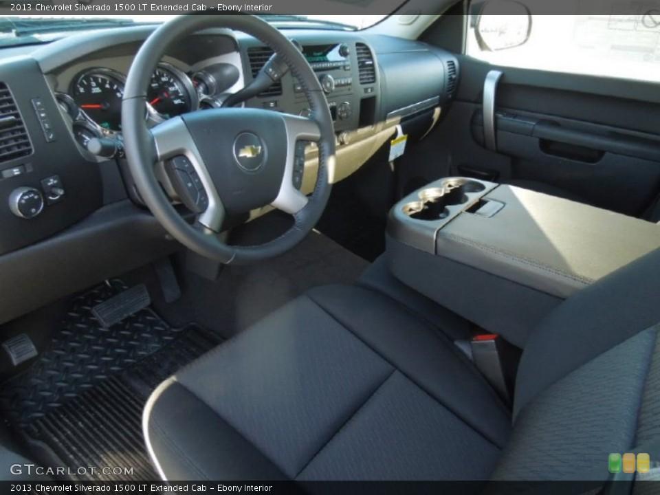Ebony Interior Prime Interior for the 2013 Chevrolet Silverado 1500 LT Extended Cab #76245299