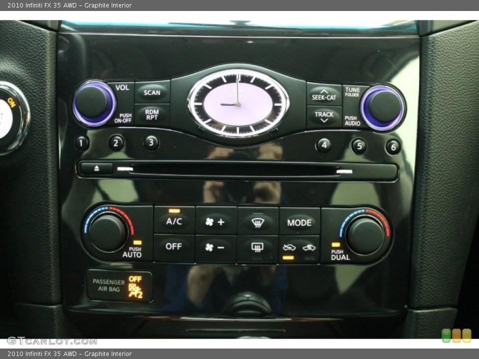 Graphite Interior Controls for the 2010 Infiniti FX 35 AWD #76277243