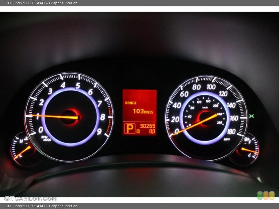 Graphite Interior Gauges for the 2010 Infiniti FX 35 AWD #76277249