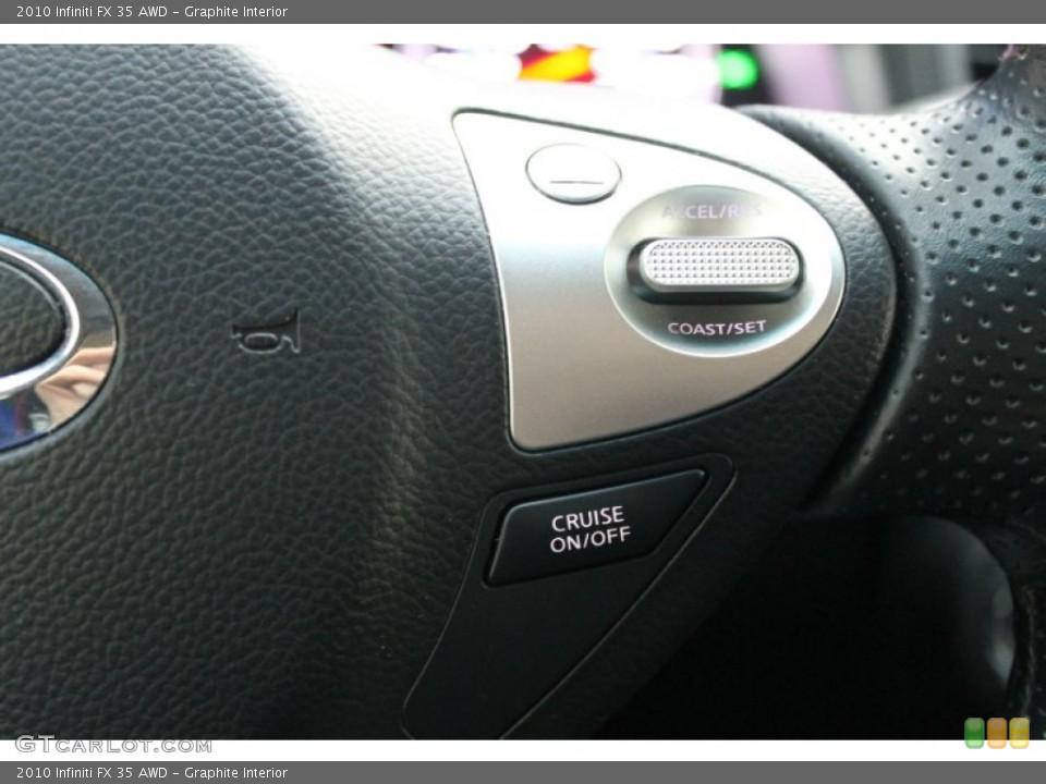 Graphite Interior Controls for the 2010 Infiniti FX 35 AWD #76277261