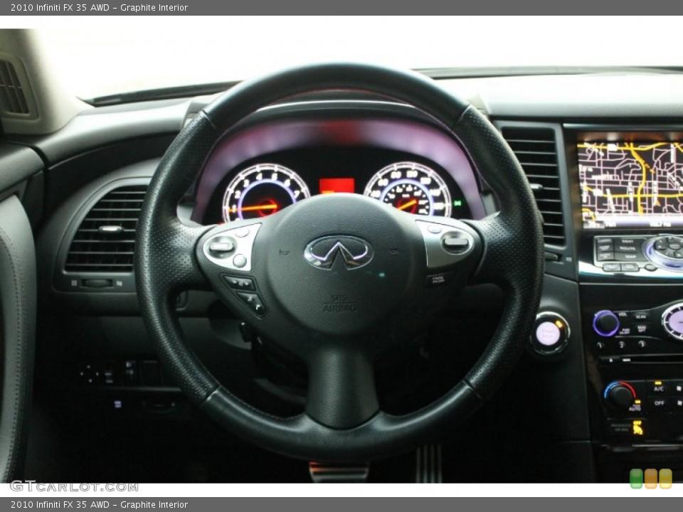 Graphite Interior Steering Wheel for the 2010 Infiniti FX 35 AWD #76277297