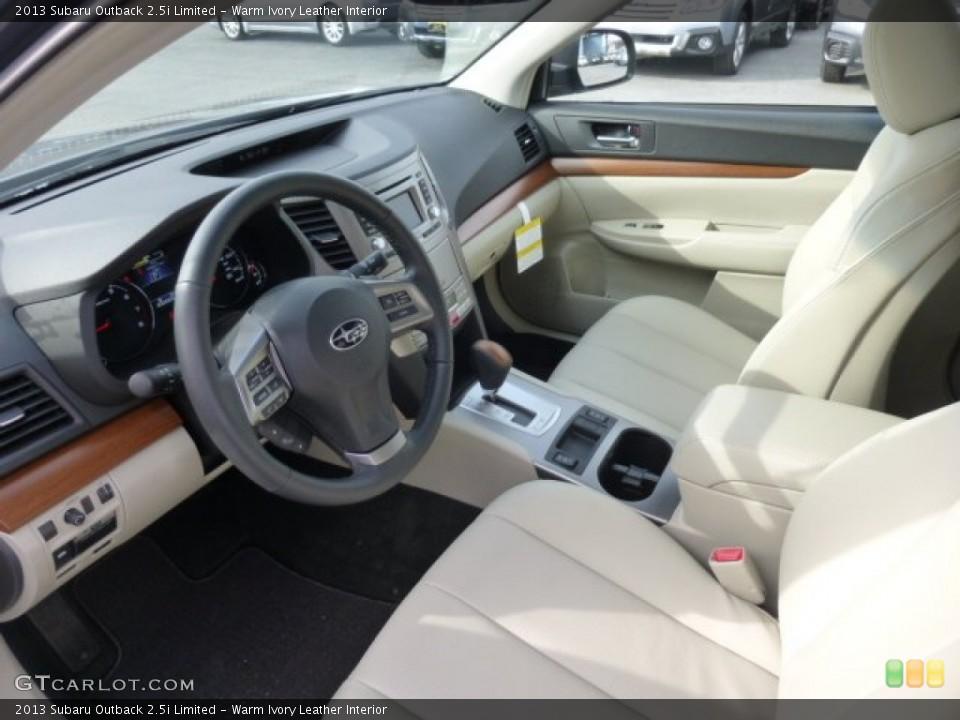 Warm Ivory Leather Interior Photo For The 2013 Subaru Outback 25i