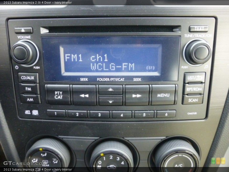 Ivory Interior Audio System for the 2013 Subaru Impreza 2.0i 4 Door #76310060