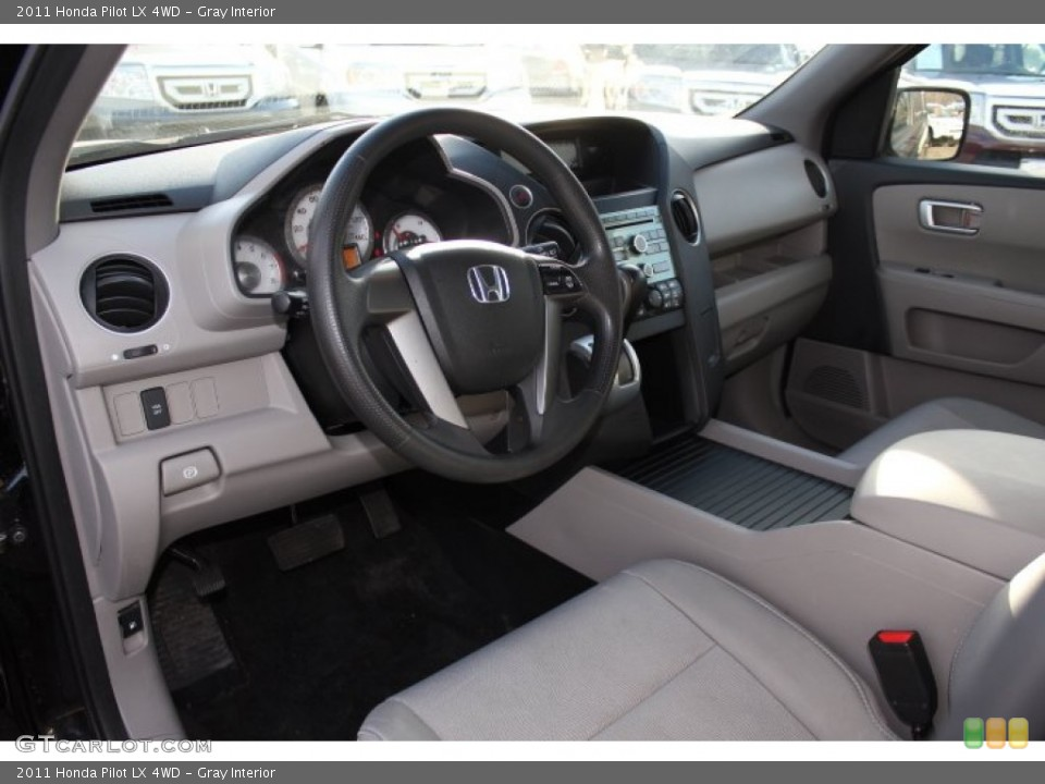 Gray Interior Prime Interior for the 2011 Honda Pilot LX 4WD #76320557