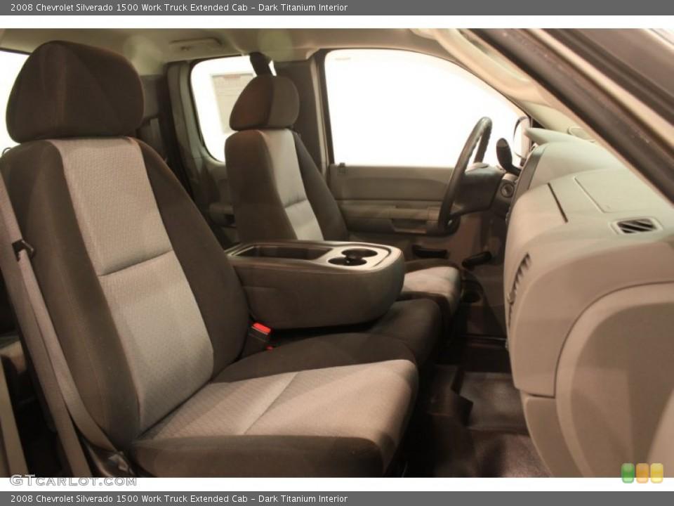 Dark Titanium Interior Photo for the 2008 Chevrolet Silverado 1500 Work Truck Extended Cab #76321535