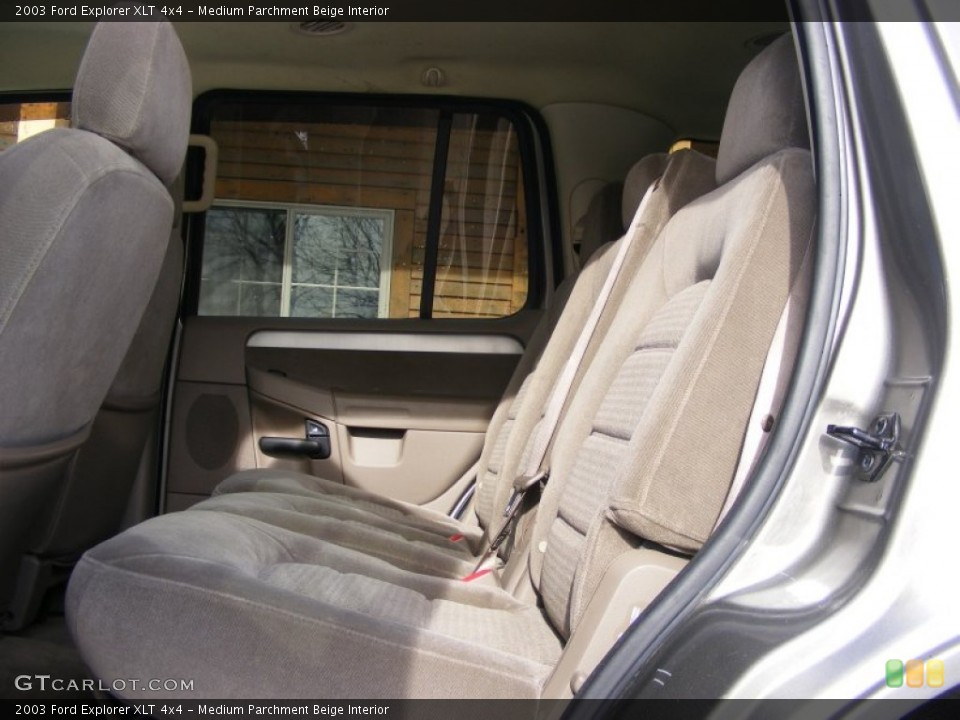 Medium Parchment Beige Interior Rear Seat for the 2003 Ford Explorer XLT 4x4 #76336448