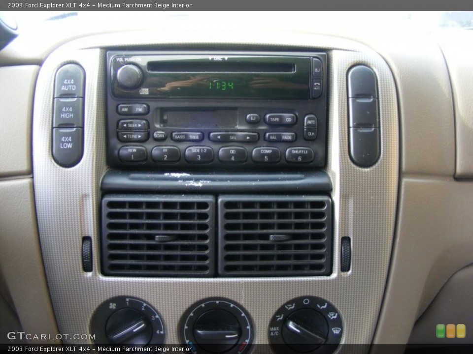 Medium Parchment Beige Interior Controls for the 2003 Ford Explorer XLT 4x4 #76336540