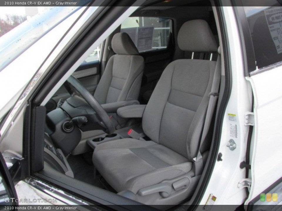 Gray Interior Front Seat for the 2010 Honda CR-V EX AWD #76383271