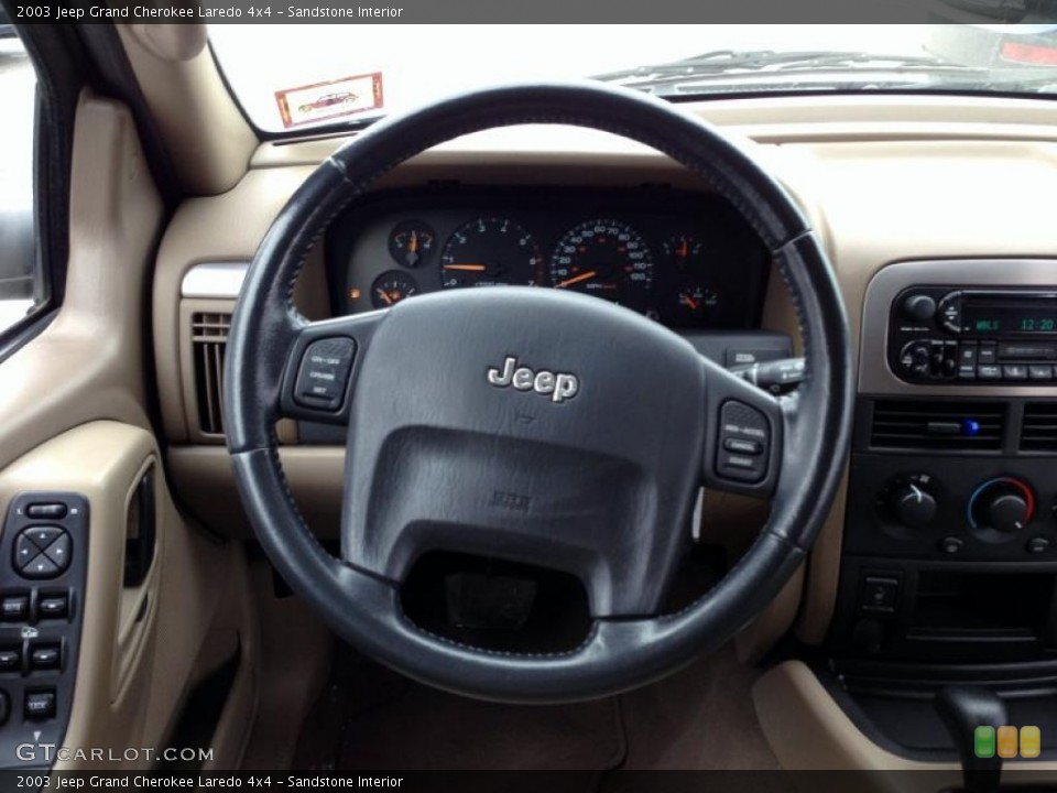sandstone interior steering wheel for the 2003 jeep grand cherokee laredo 4x4 76415992 gtcarlot com gtcarlot com