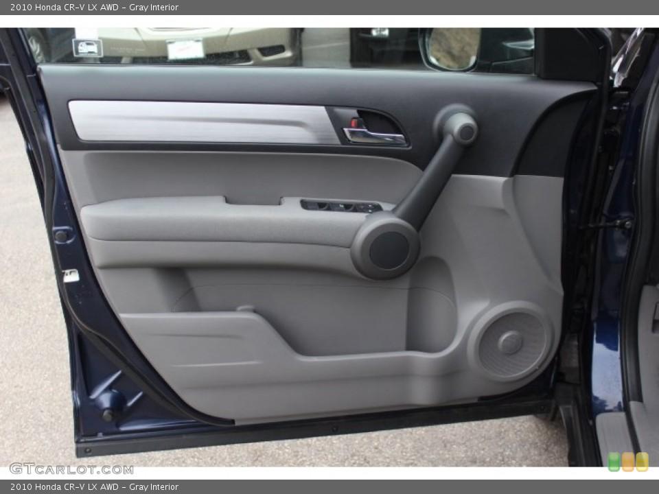 Gray Interior Door Panel for the 2010 Honda CR-V LX AWD #76420748