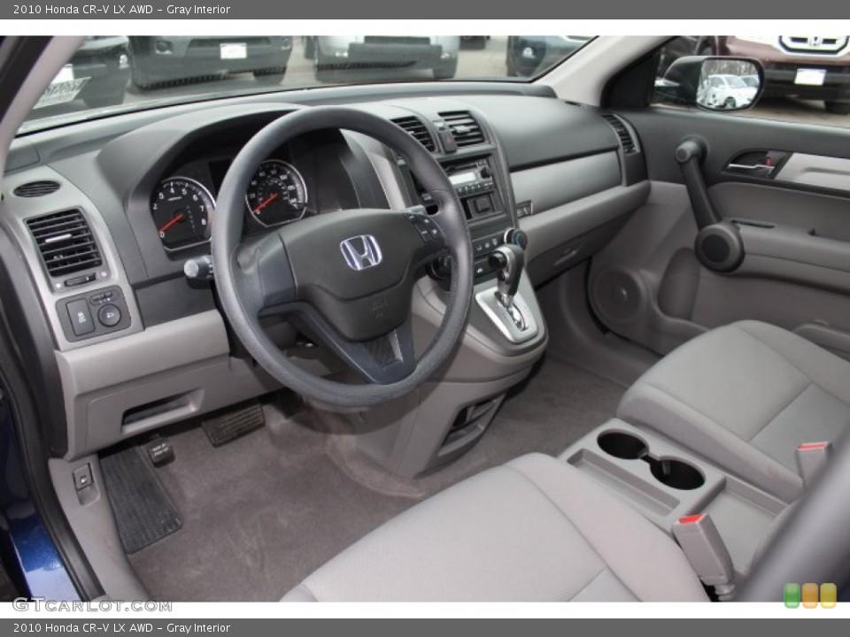 Gray Interior Photo for the 2010 Honda CR-V LX AWD #76420758