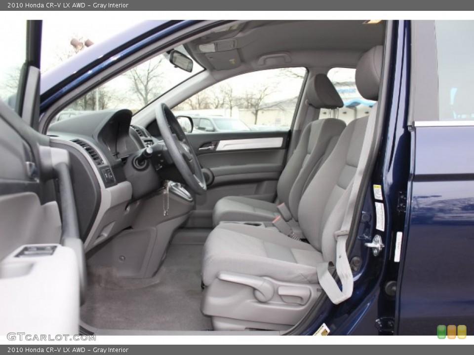 Gray Interior Photo for the 2010 Honda CR-V LX AWD #76420770