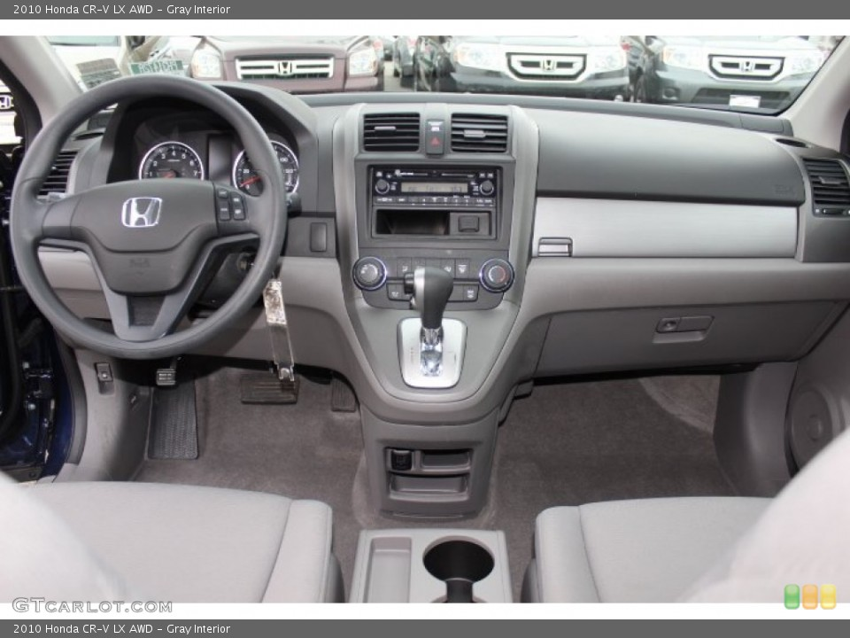 Gray Interior Dashboard for the 2010 Honda CR-V LX AWD #76420787