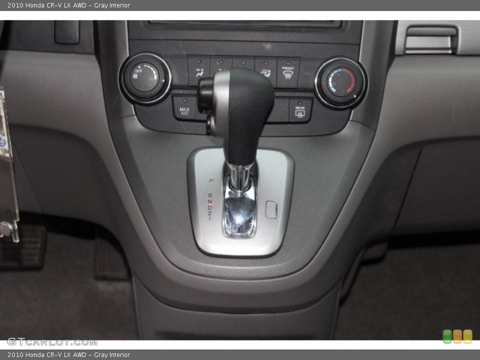 Gray Interior Transmission for the 2010 Honda CR-V LX AWD #76420809