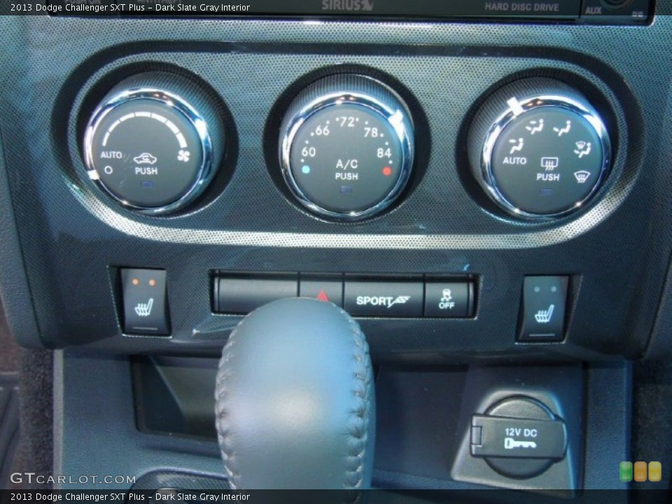 Dark Slate Gray Interior Controls for the 2013 Dodge Challenger SXT Plus #76424823